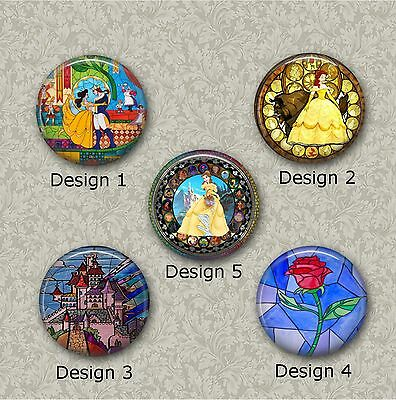 5 x 25m Beauty And The Beast  Resin Or Glass Cabochons for Jewellery Making