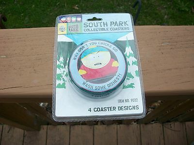 South Park Tin Collectable Glass Cup Coasters Nib