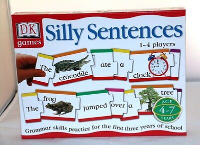 Silly Sentences Game Grammar Skills Ages 4 - 7 Complete GREAT FUN! EUC
