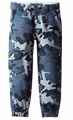 New $37.50 Tommy Hilfiger Boys Army Bluestone Camo Jogger Cargo Pants Sz Small