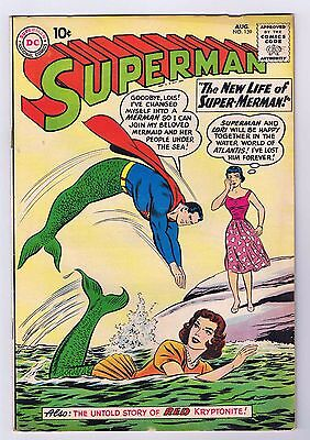 Superman #139 Very Good Complete Stories 1960 DC Comics Silver Age