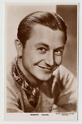 POSTCARD - Robert Young #93, movie film cinema actor, real photo RP