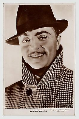 POSTCARD - William Powell #57A, movie film cinema actor, real photo RP