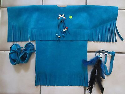 PRICE REDUCED Ultra-Suede Reborn Doll Indian Outfit with Head Band & Moccasins