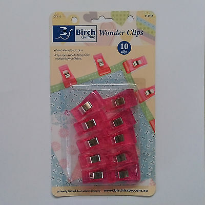 Birch Wonder Clips for Quilting ~ 10 Pack