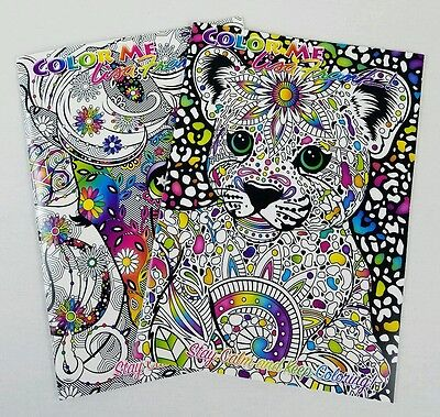 Adult Coloring Book Lot(2) LISA FRANK Stress Relief Art Therapy Retro Christmas