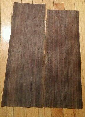 "2 pieces of East Indian Rosewood raw wood veneer 19 1/4"" x 6 1/2 each bookmatch"