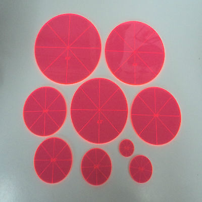Template Set for Patchwork ~ 9 Pieces ~ Choose Triangles or Circles