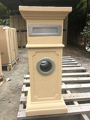 Sandstone Letterbox With Quality Steel Fittings