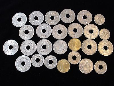 Fiji Predecimal Coins Bulk Penny Shilling Threepence Sixpence Ideal Resell  #BK1