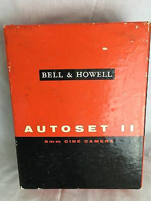 Bell & Howell Auto set II Cine Camera In Leather Case Also In Box Of Issue
