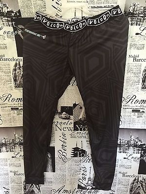 Volcom V-Science Base Layer Tights Compression Graphic Bottoms/Pants Small S