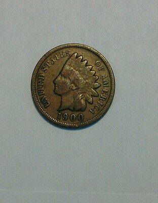 one cent 1900 us indian head