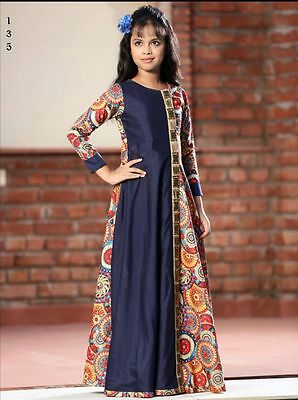 Indian Wear Girls Kids Gown Designer Gown Bollywood Wedding Dress Gown 135