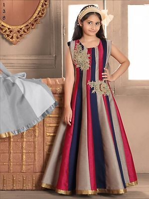 Indian Wear Girls Kids Gown Designer Gown Bollywood Wedding Dress Gown 138