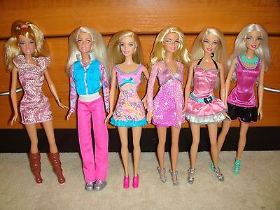 Barbie Doll Lot Of 6 Dolls Fully Clothed With Shoes Excellent Condition Lot 1