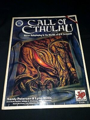 Call of Cthulhu 5th Edition Roleplay OOP rare