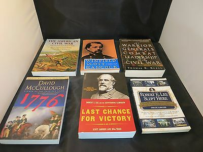 Lot of 6 American Revolution and Civil War Books in GREAT shape:Lee, McCollough
