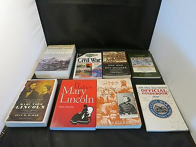 Lot of 8 Civil War Books in GREAT shape: Mary Todd Lincoln, Guidebook and more
