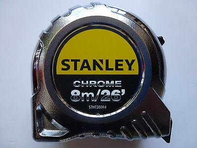 Stanley 8m/26ft 'Chrome' Tape Measure STHT36014