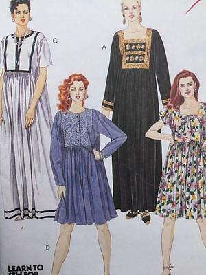 McCalls Sewing Pattern 7145 Misses Ladies Dress Two Lengths Size XL 20-22 UC