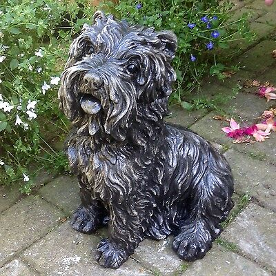 Stone Dog Puppy Animal Westie Garden Lawn Ornament Sculpture Gift Remembrance