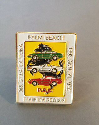 FERRARI Club of America 1993 Palm Beach Annual Meet Lapel Pin 365 GTB4 Daytona
