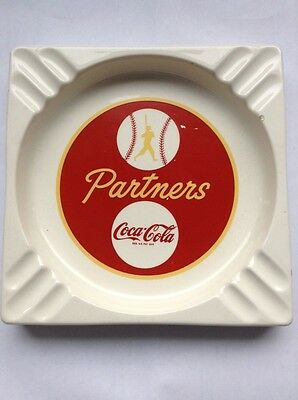 NICE 1940s COCA COLA BASEBALL PARTNERS ASHTRAY ROY G BOOKER ATLANTA