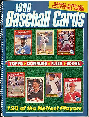 1990 Baseball Cards Topps Donruss Fleer Score player bios with card pictures HTF