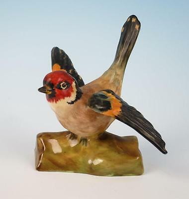 Crown Staffordshire GOLDFINCH Figurine Modeled by J.T. Jones Bird Porcelain
