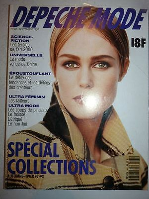 Magazine fashion DEPECHE MODE french #61 septembre 1992 special collections