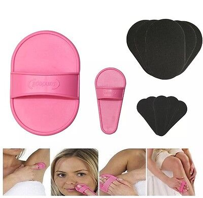 Smooth Away Legs Skin Pads Arm Face Hair Removal Remover Exfoliator Set