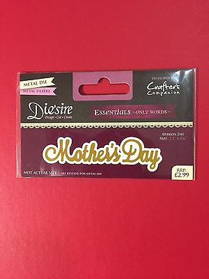 NEW• Die'sire Mothers Day Word Scrip Cutting Die - Use with Cuttlebug Or Sizzix