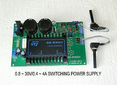 0.8 ~ 30V / 0.4 ~ 4A Variable Switching Power Supply Module Eurocard 16X10X3,5Cm