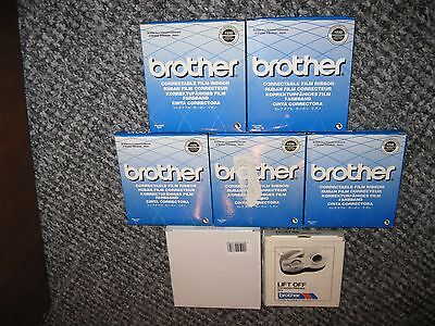 5 x BROTHER CORRECTABLE FILM TYPEWRITER RIBBON BLACK 1030 NEW + OTHERS