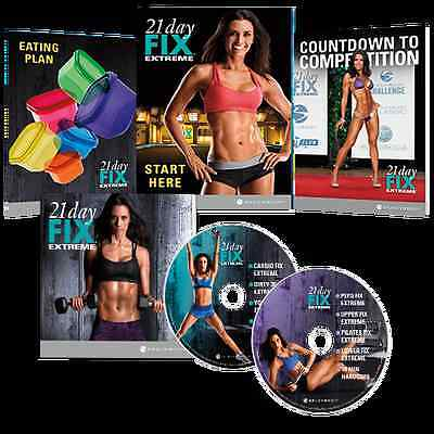 New 21 Day Fix Extreme Deluxe Dvd Kit. 2 Dvds+Bonus Dvd. All Guides.