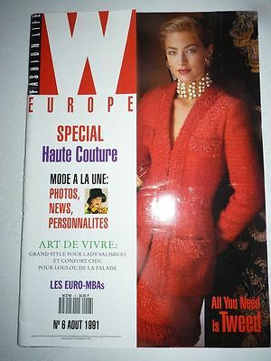 Magazine mode W FASHION LIFE #6 aout 1991 special Haute Couture