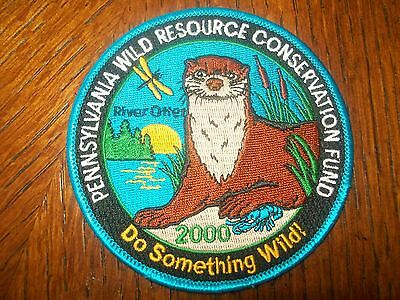 """Pennsylvania Pa Game Patch 2000 4"""" River Otter Wild Resource Conservation Fund"""