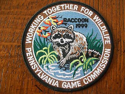 Pennsylvania Pa Game Commission Hunting Patch 1999 Racoon  Wtfw