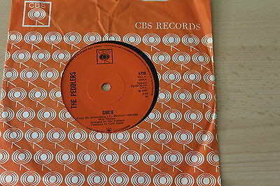"""THE PEDDLERS 45rpm RECORD - GIRLIE & """"P.S.I LOVE YOU GIRLIE"""""""