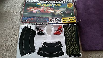 Scalextric Ford RS Cosworth Scalextric set. BOXED. NOT COMPLETE. Vintage 1980s