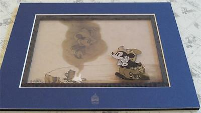 Disney LE 500 TWO-GUN MICKEY Cowboy Minnie Mouse Matted Laser Cel Artwork