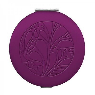 #2335 Dual Sided Magnifying Compact Mirror by Wellspring-Terrace-Mulberry Purple