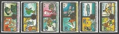 Central Africa 1979 Iyoc Year Of Child Unicef Omnibus Aircraft Sport Set Mnh