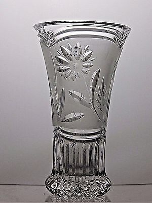Beautiful Design Frosted/ Etched Glass Vase