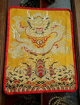 Tibetan Yellow dragon table mat/shrine cloth/ Table Cover/Altar Cloth/cover