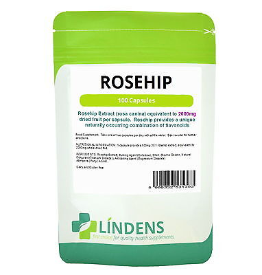 ROSEHIP 2000mg ***100 Capsules***  Rose hip tablets  UK MADE