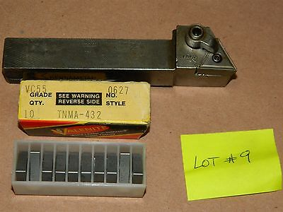 KENNAMETAL Indexable Lathe Tool Holder  W- VALENITE Inserts TNMA-432  LOT # 9