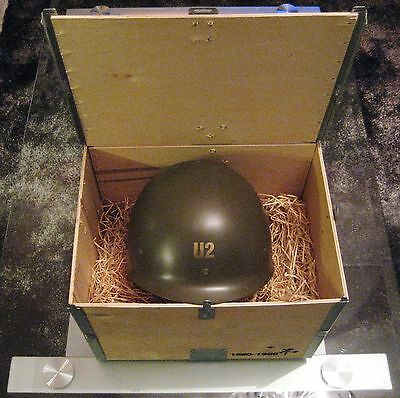 U2 The Best Of 1980 - 1990 Ultra rare 1998 promo helmet in wooden crate RaRe