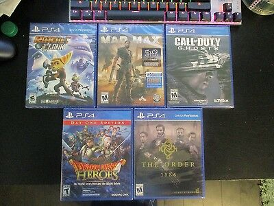 Lot of 5 PS4 Games All Brand New - Mad Max + more